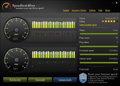 программа для просмотра скорости интернета - фото 8